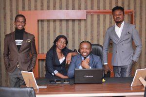 L - R: Nnadi Dumkenenna (Director of Communications), Chinenye Nora (Director of Academics), Bright Wonder Obasi (CEO) & Osas Iyamu (Director of Operations)