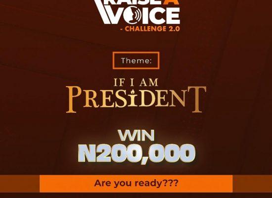 """RAISE A VOICE"""" Challenge 2.0"""